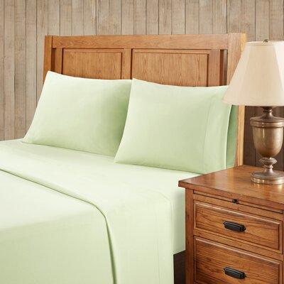 Franck Softspun Solid Sheet Set Size: Full, Color: Green