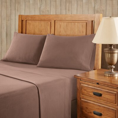 Franck Softspun Solid Sheet Set Size: King, Color: Brown