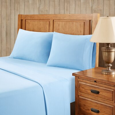 Franck Softspun Solid Sheet Set Size: King, Color: Blue