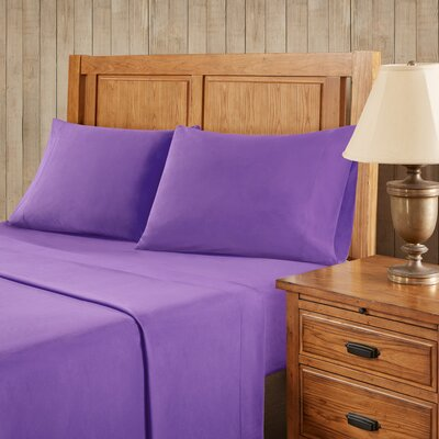Franck Softspun Solid Sheet Set Size: Extra-Long Twin, Color: Purple
