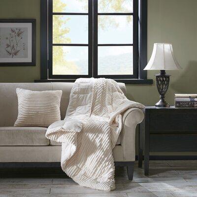 Wheat Ridge Throw Pillow Color: Ivory