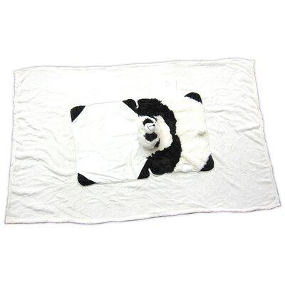 Panda Polyester Plush Pillow and Blanket