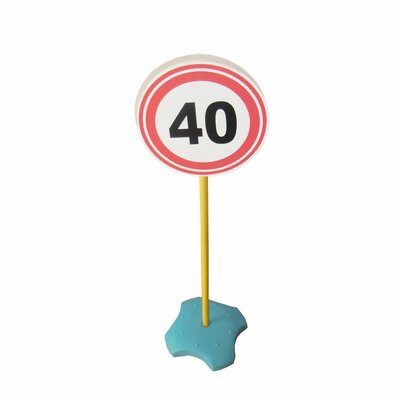 Speed Limit 40 Signpost