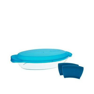 48 Oz. Oval Glass Storage Set Color: Aqua