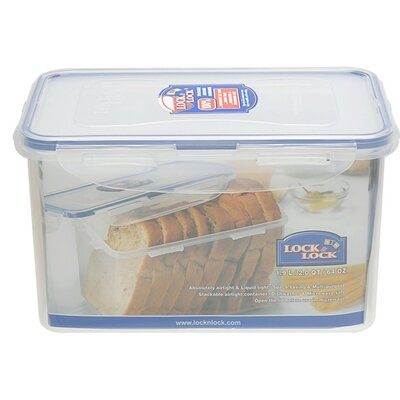64 Oz. Rectangular Tall Food/Bread Container HPL818