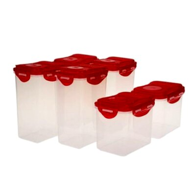 6-Container Food Storage Set HPR140155RD