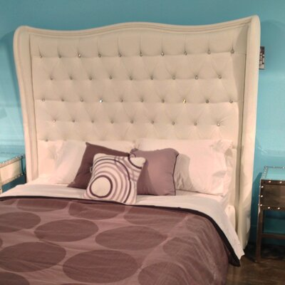 Echo Upholstered Wingback Headboard Size: King
