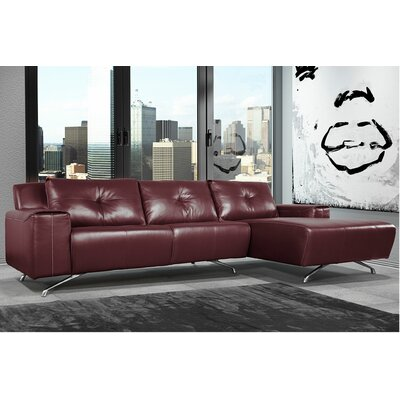 Syrah Leather Sectional Orientation: Right Hand Facing