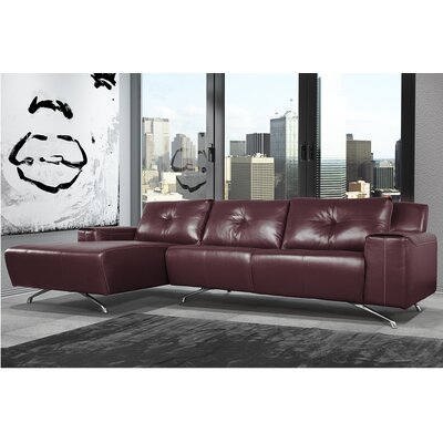 Syrah Leather Sectional Orientation: Left Hand Facing