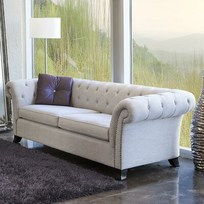Duchesse Woven Fabric Chesterfield Sofa