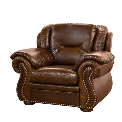 Wyatt Top Grain Leather Club Chair