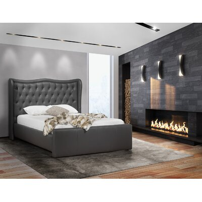 Roselle Upholstered Panel Bed Color: Gray, Size: Queen