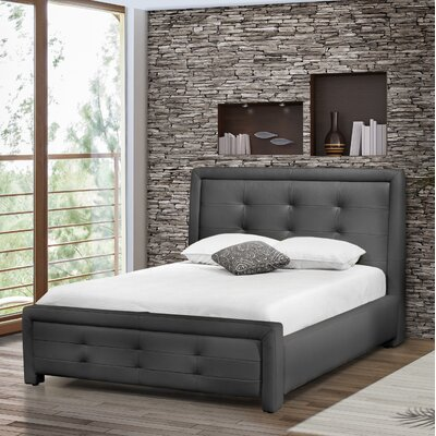 Claar Upholstered Platform Bed Color: Gray, Size: King