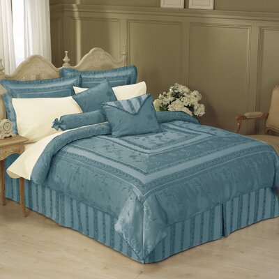Athena 11 Piece Bed-In-a-Bag Set Size: Queen, Color: Slate Blue