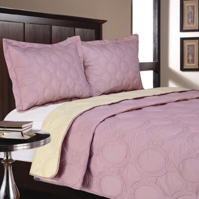 Hotel Livingston 3 Pieces Coverlet Color: Mauve