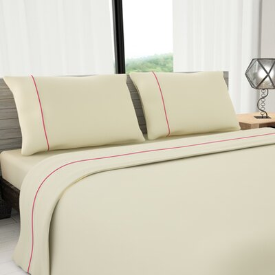 Novelty 625 Thread Count Cotton Sheet Set Color: Ivory, Size: Queen