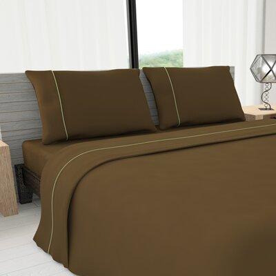 Novelty 625 Thread Count Cotton Sheet Set Size: Queen, Color: Mocha
