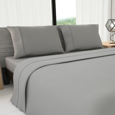 Novelty 625 Thread Count Cotton Sheet Set Color: Gray, Size: Queen