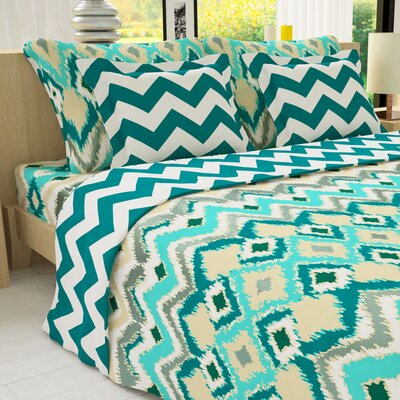 Duvet Cover Set Size: Twin, Color: Silver Green