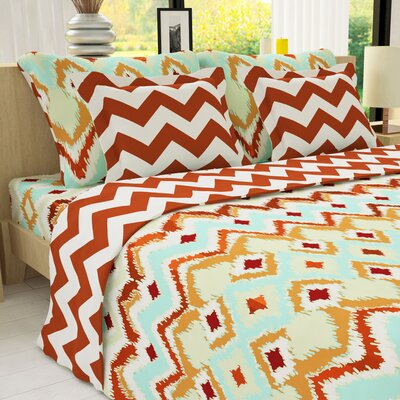 Duvet Cover Set Size: Twin, Color: Metallic Copper