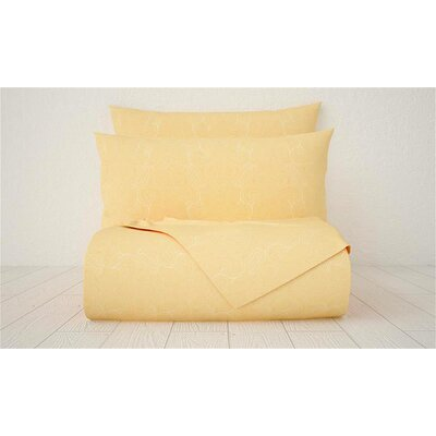 Xara 1800 Series Collection Printed Cotton Sheet Set Color: Peach, Size: Full