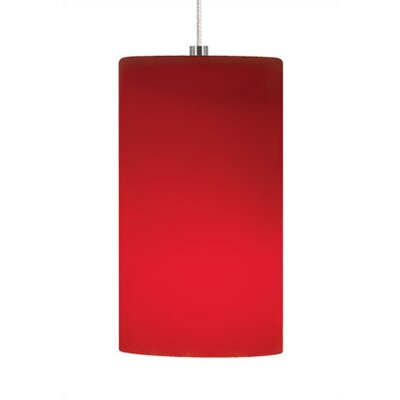 Celine 1-Light Mini Pendant Mounting Type: Rail, Shade Color: Red, Base Finish: Satin Nickel