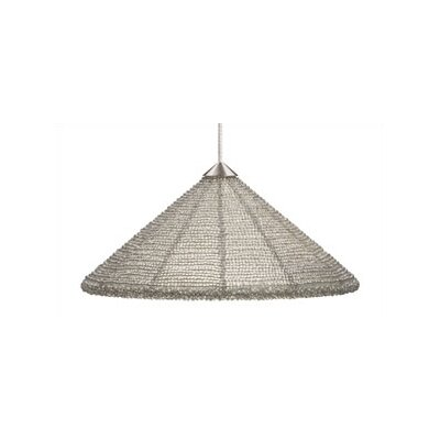 Maya 1-Light Mini Pendant Finish: Satin Nickel, Shade Color: Frost, Mounting Type: Rail