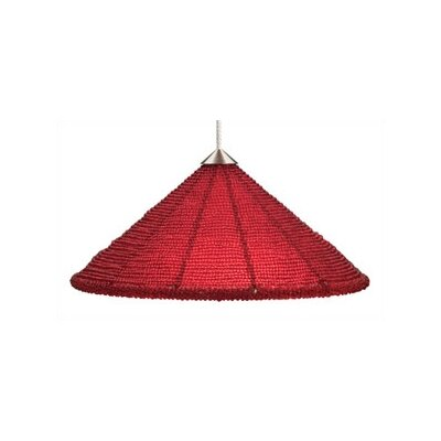 Maya 1-Light Mini Pendant Finish: Satin Nickel, Shade Color: Red, Mounting Type: Monopoint