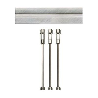 Rail Option Extension Rod Set Finish: Satin Nickel