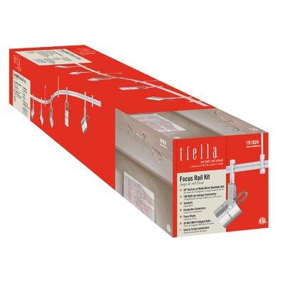 Focus 5-Light Rail 5 Head Full Track Lighting Kit