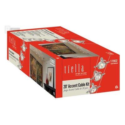 5-Light Cable Head Pivot Full Track Lighting Kit