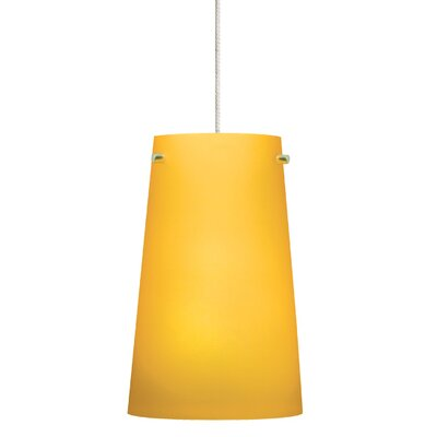 Pint 1-Light Mini Pendant Finish: Satin Nickel, Shade Color: Amber, Mounting Type: Monopoint