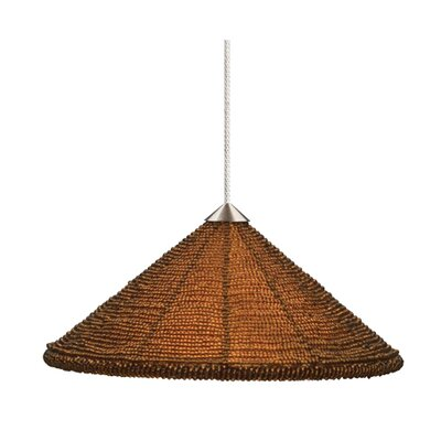 Maya 1-Light Mini Pendant Finish: Bronze, Shade Color: Dark Amber, Mounting Type: Rail