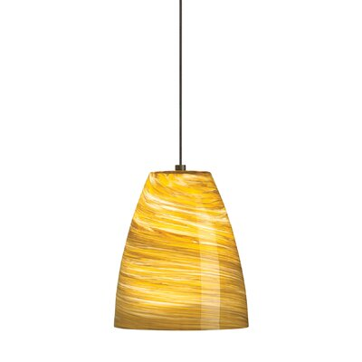 Sonya 1-Light Pendant Mounting Type / Finish / Finish: Monopoint/Amber/Satin Nickel