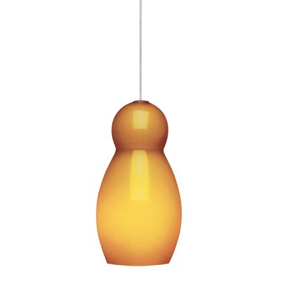 Cha-Cha 1-Light Mini Pendant Shade Color: Amber, Base Finish: Bronze, Mounting Type: Monopoint