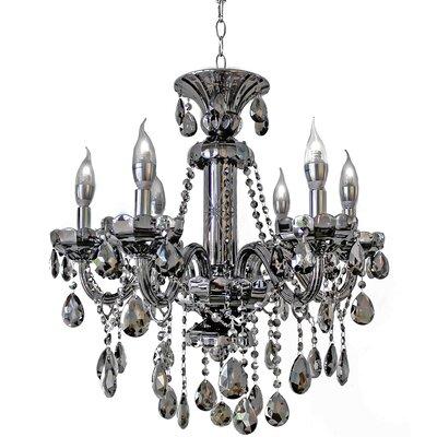 6-Light Crystal Chandelier