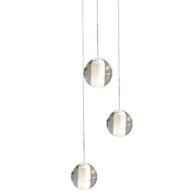 3-Light Globe Chandelier