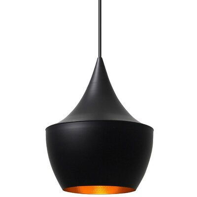 1-Light Mini Drum Pendant Finish: Black