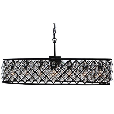 Adelaida 8-Light Kitchen Island Pendant Finish: Black