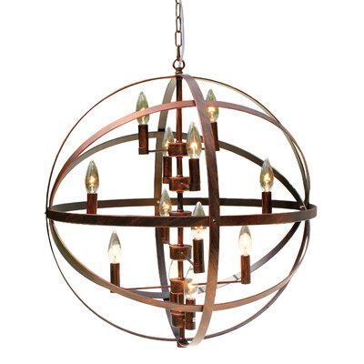 12-Light Globe Pendant Finish: Bronze