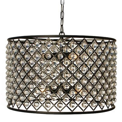 Adelaida 8-Light LED Drum Chandelier Finish: Antique Black