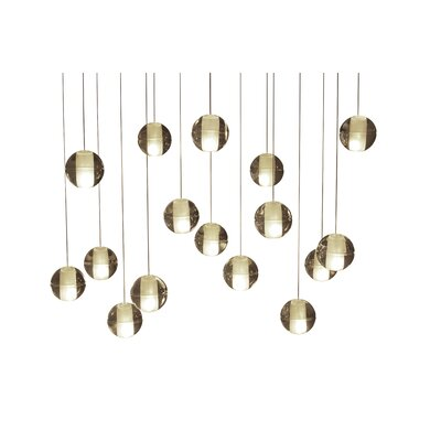 Mccoin 16-Light Suspended LED Cascade Pendant