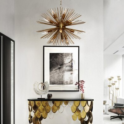 Sunburst 12-Light Sputnik Chandelier