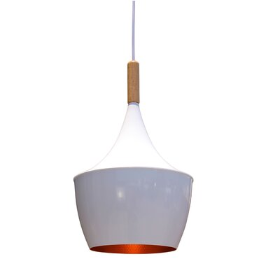 Vino 1-Light Mini Pendant Shade Color: White