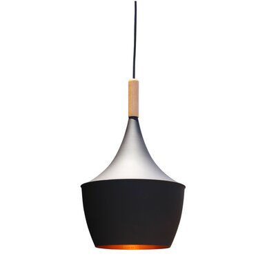 Vino 1-Light Mini Pendant Shade Color: Black