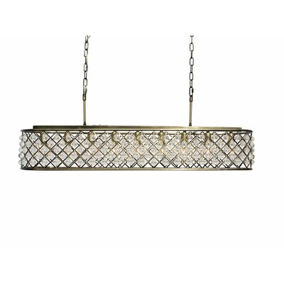 Adelaida 9-Light Kitchen Island Pendant Finish: Antique Brass