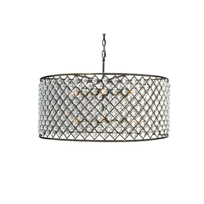 Adelaida 12-Light Drum Pendant Finish: Antique Brass