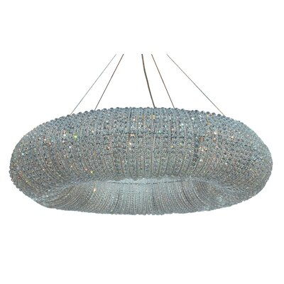 Ring 10-Light Crystal Chandelier