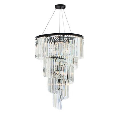 Curl 14-Light Crystal Chandelier
