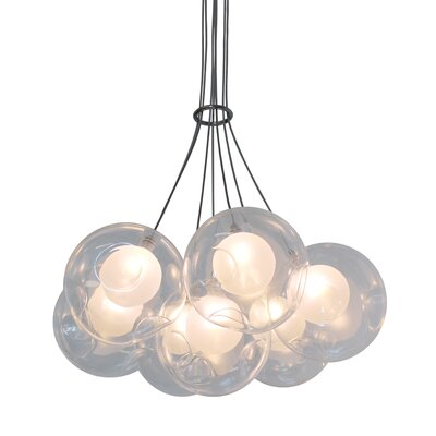 Welles Suspended Globe 7-Light LED Cluster Pendant